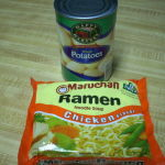 Ramen chicken noodle soup