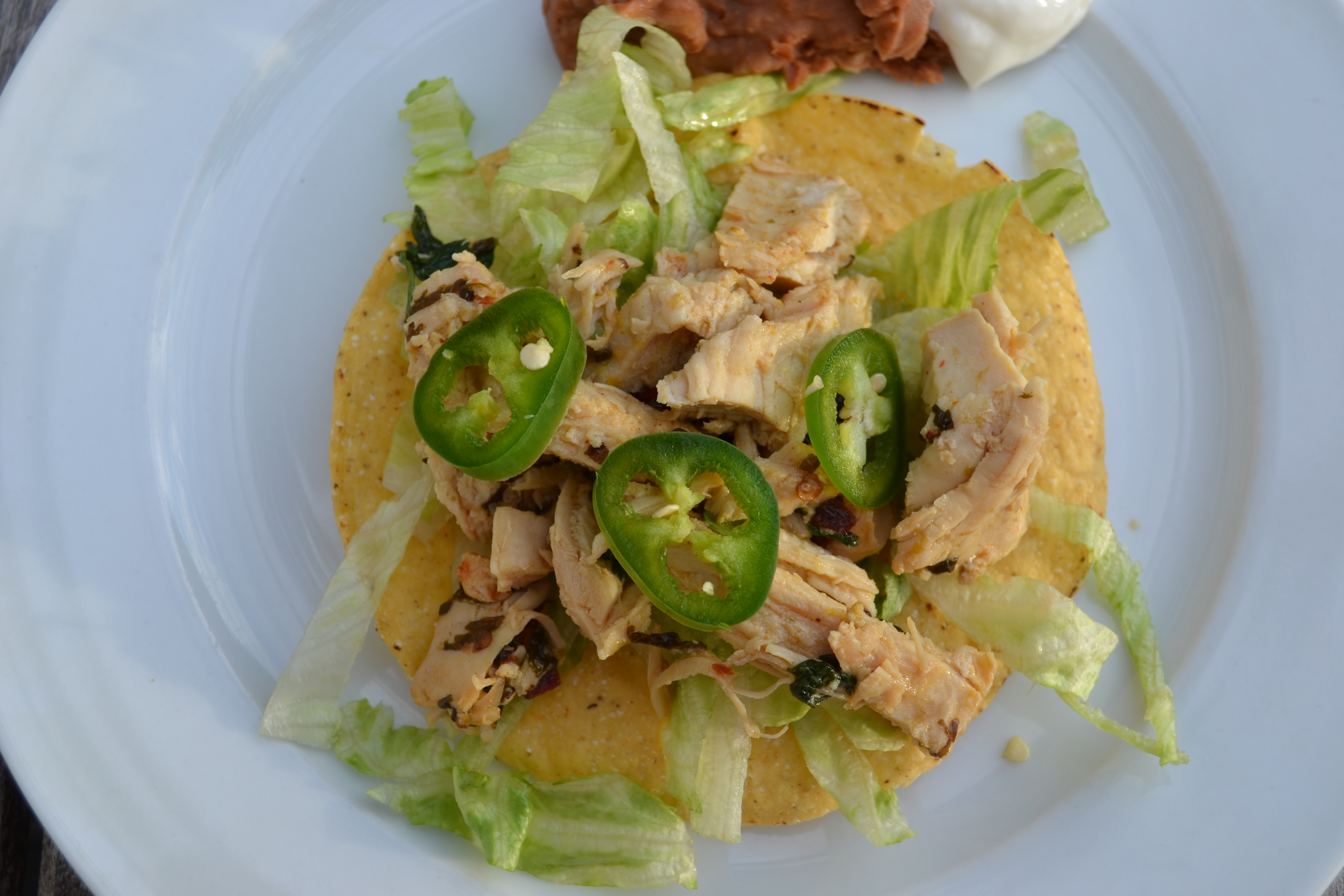 marinated chicken tacos