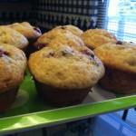 Cranberry Banana Chobani Muffins