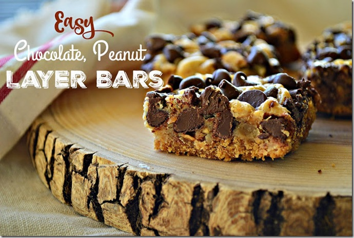 Easy Chocolate Peanut Layer Bars