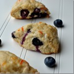 Blueberry Lemon Scones with Orange Zest Glaze