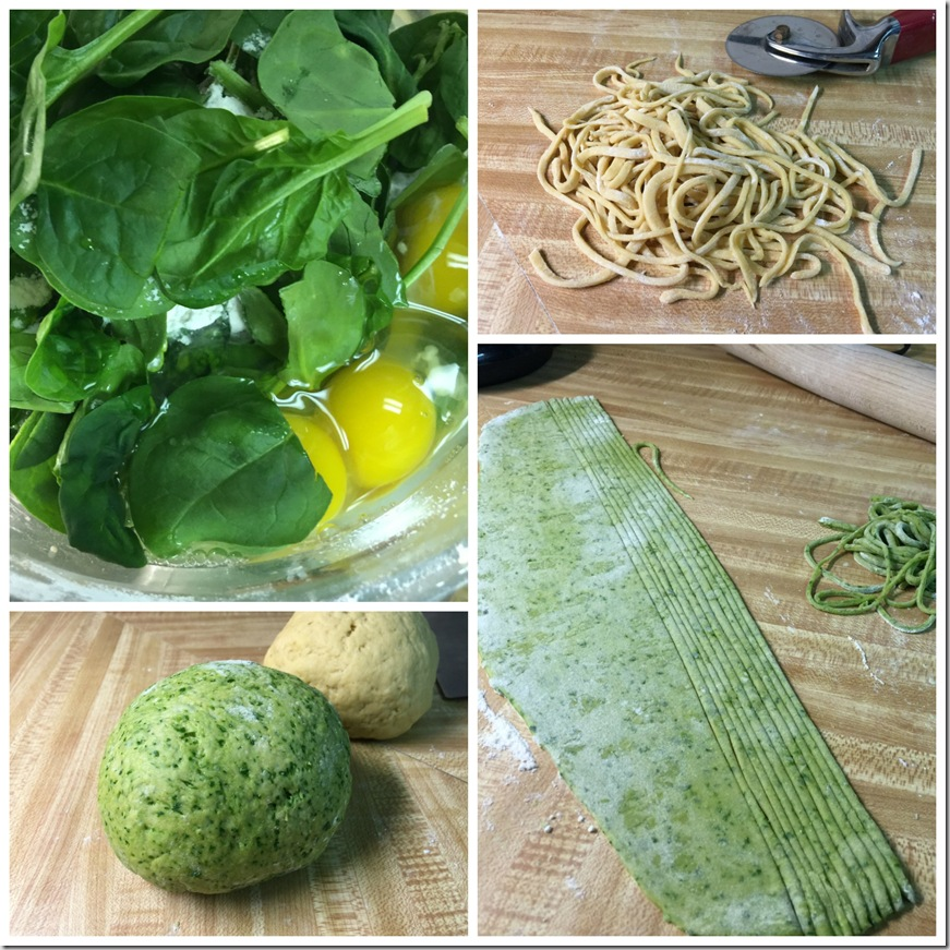 how to make homemade spinach pasta