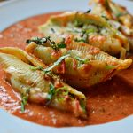 Stuffed Shells with Cherry Tomato Sauce