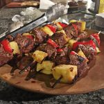 Ginger and Cumin Spiced Beef and Pineapple Kebobs