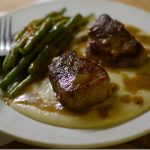 Pork Medallions with Cheesy Grits