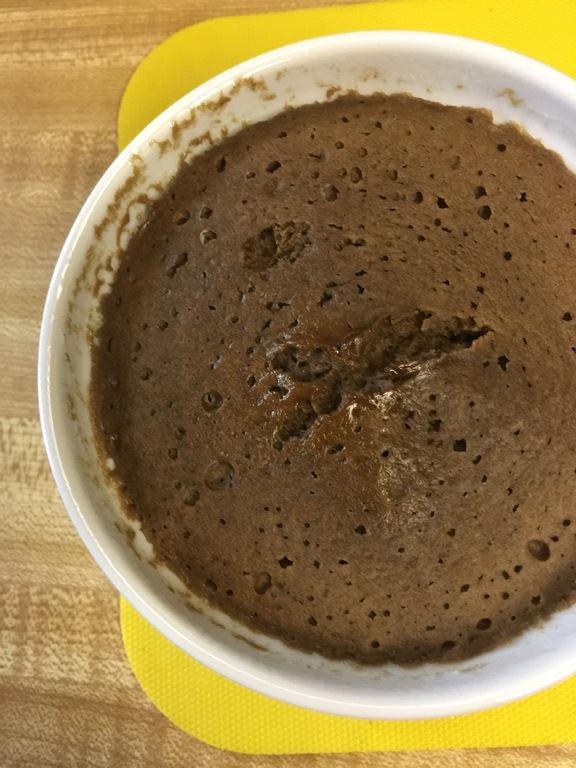 Microwave Banana Cake With Caramel Sauce