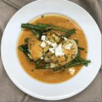 Goat Cheese and Spinach Stuffed Chicken with Roasted Red Pepper Sauce