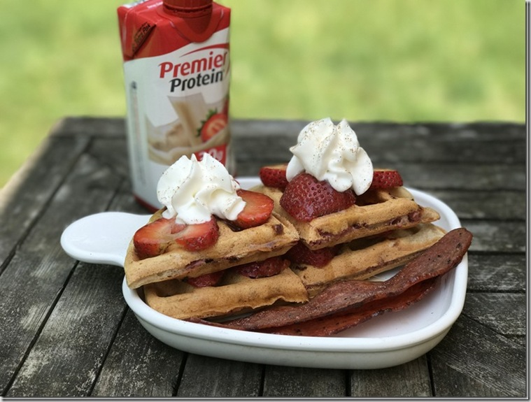 strawberry shortcake buttermilk waffles
