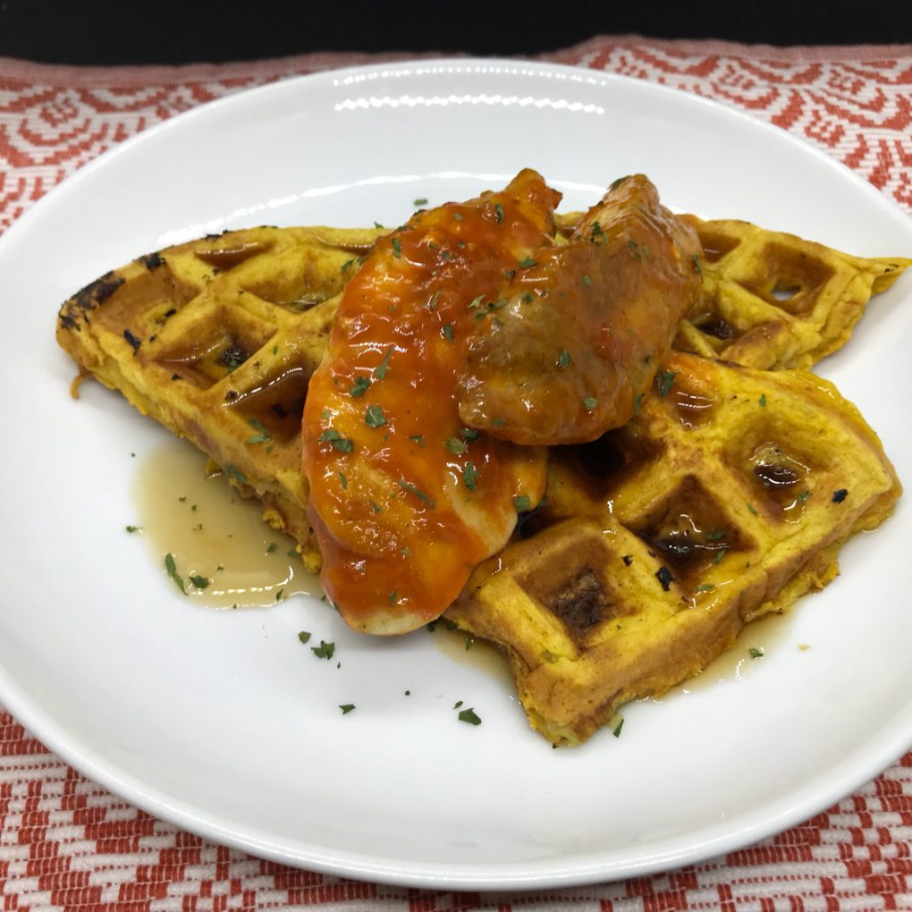 Skinny Chicken and Waffles